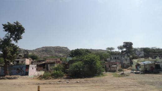 Way side scene to Jaipur from Jodhpur