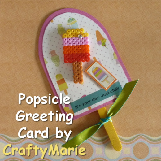 Handmade Popsicle greeting card fun to make as a summer craft