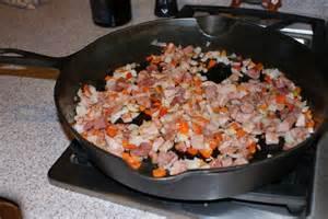 Braising ham for hash