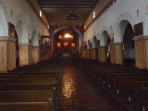 Interior, Mission San Juan Bautista, c. 1797, San Juan Bautista, CA.