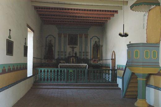 Interior, Mission San Francisco Solano, c. 1823, Sonoma, CA.