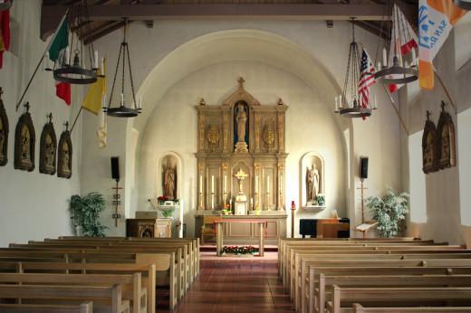 Interior, Mission San Rafael, c. 1817, San Rafael, CA.