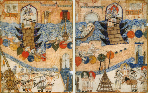 Baghdad was sacked by the mongols in 1258.  Most of the inhabitants were killed.