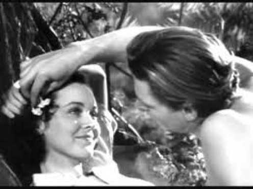 Tarzan takes a romantic moment with Jane