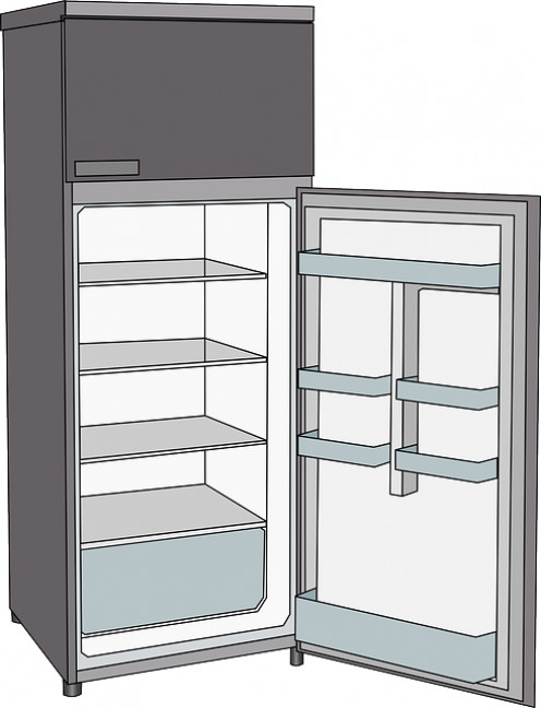 Clean the refrigerator out a couple of days beforehand