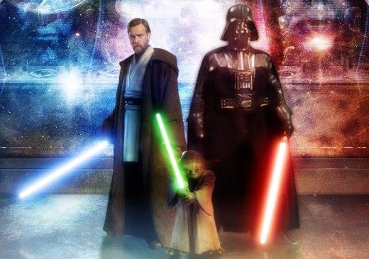 Obi-Wan, Yoda, and Darth Vader