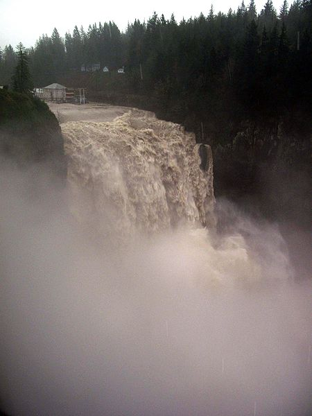 Snoqualmie Falls in Flood stage flow.