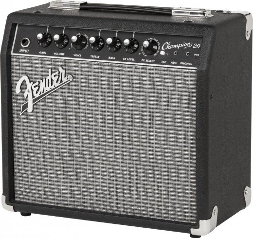 The Fender Champion 20 is one of the best guitar amps for beginners with a budget under $100