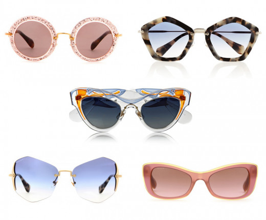 60's and 70's inspired sunglasses