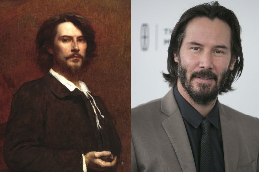 Keanu Reeves and Guy from 18th century