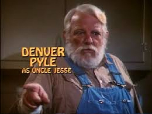 "Denver Pyle as ""Uncle Jesse"""