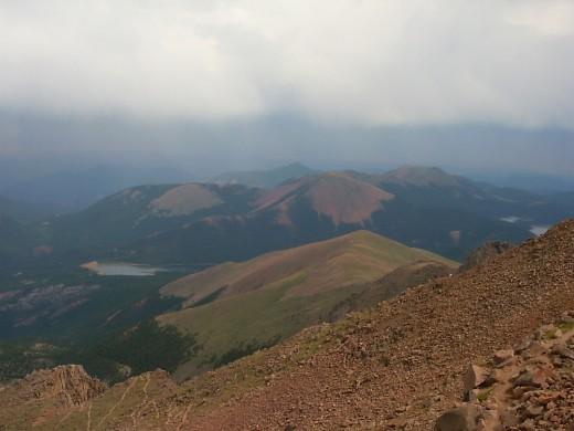 view from Pikes Peak east face