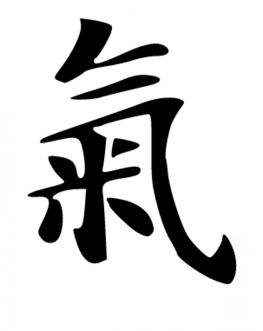 The symbol for Chi or Qi