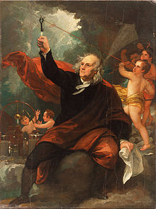 Benjamin Franklin Drawing Electricity from the Sky c. 1816
