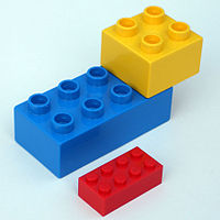 Lego Duplo: the little kid's Lego.