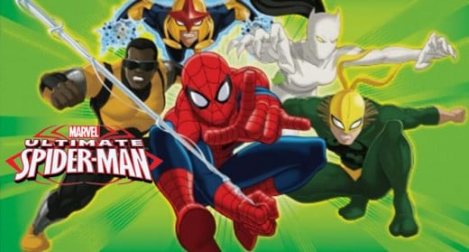 Spider-Man and his teammates from Ultimate Spider-Man
