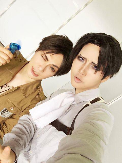 Eren and Levi (Kaname and Reika)