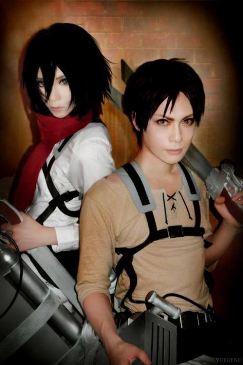Mikasa and Eren (Yuegene and Kaname)