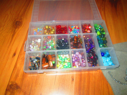 There is a huge choice of different types and colours of beads available.