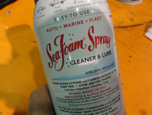 fuel system cleaner - this is used primarily in marine craft to take water our of gas but it also claims to clean engine fuel systems.