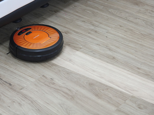 Mopping robotic vacuum cleaner