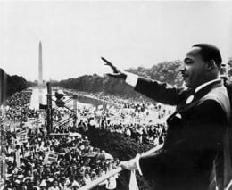 Martin Luther King, Jr. at march on Washington, D.C.