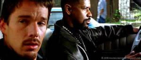 Denzel Washington and Ethan Hawke play as detectives in Training Day. They are the odd couple, ethically, at least.