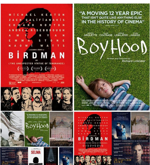 Oscar vs BAFTA 2015 - Best Picture