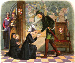 Young King Edward meets Lady Elizabeth Grey, his future wife and Queen