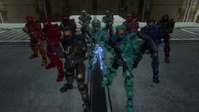 the current cast and characters of Red vs. Blue.