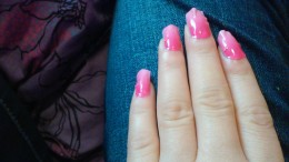 My current Jamicure, (Jamberry manicure). Wrap name: Kiss Me Ombre.