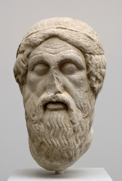 A sculptor's impression of the face of Homer. We do not know who Homer really was or exactly when he lived