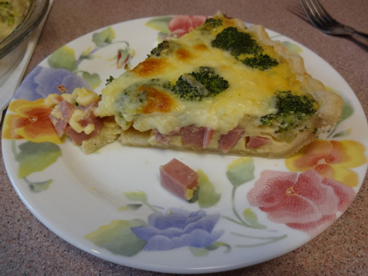 This quiche can be made with lunch meat or deli items or substitute some Spam.