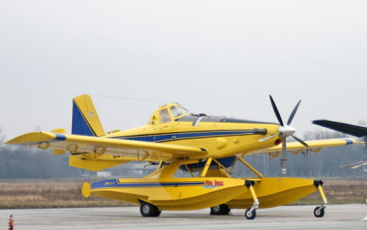 "Air Tractor's AT-802A ""Fire Boss""  aerial firefighting amphibious float aircraft."