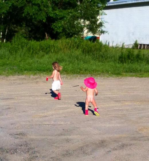 My girls enjoying summer