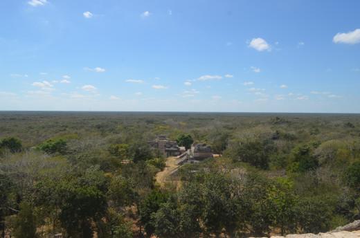 View from the top of Ek Balam