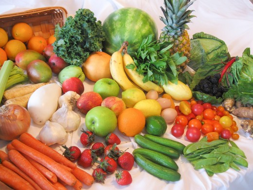 Whole, unprocessed vegetables and fruits are important components of the diet.