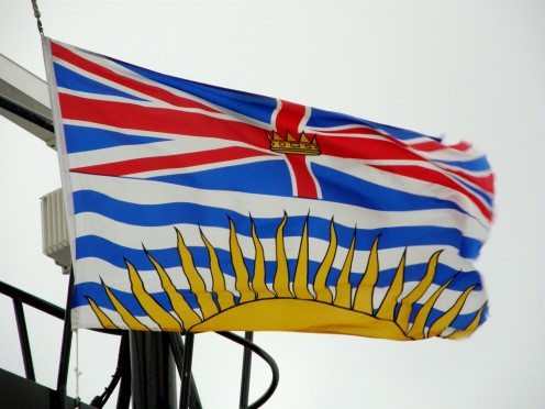 Provincial flag of British Columbia