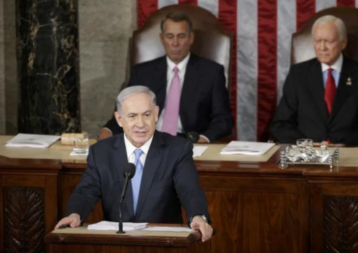 Israeli Prime Minister Benjamin Netanyahu addresses a joint meeting of Congress in the House Chamber on Capitol Hill on March 3, 2015.