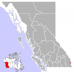 Map location of Sparwood, British Columbia