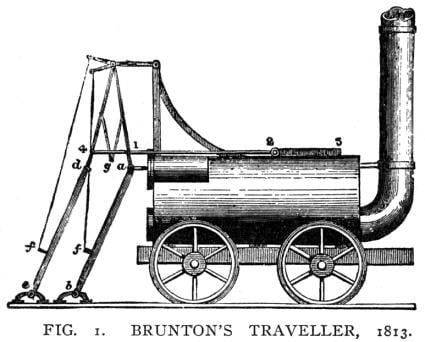 Also known as the 'Steam Horse', this early engine bizarrely was propelled by the pistons giving power to a pair of mechanical legs that gripped the rails rather than to the wheels and gave it a top speed of around 3 miles an hour.