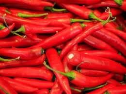 Hot and spicy foods like chili peppers can irritate the tongue.
