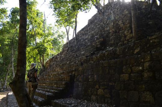 Part of the main structure at Balamku