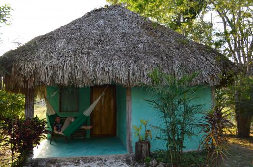 One of the cabanas at Cabanas Calakmul
