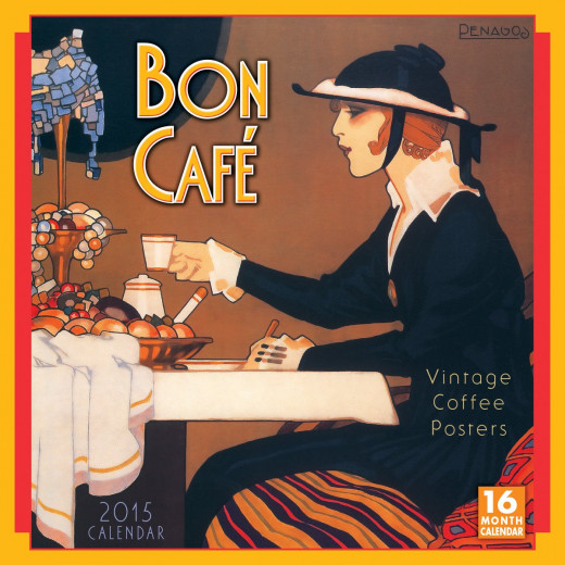 Bon Caf Vintage Coffee Posters Calendar