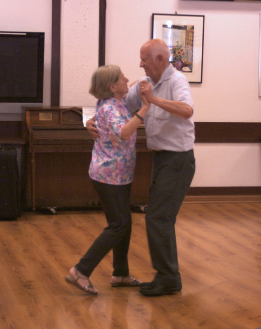 Dancing is fun exercise for the elderly.