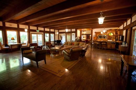 lobby lounge of the Harvest Inn, St. Helena