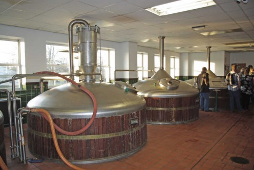 Local breweries are often very small operations, producing a few dozen barrels a week