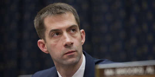 """What did I do?"" Tom Cotton, most recent nominee for the Idiotic Megalomaniacal Lunacy award."