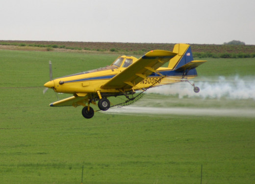 Air Tractor AT-400 is an agricultural aircraft and many used spray crops.